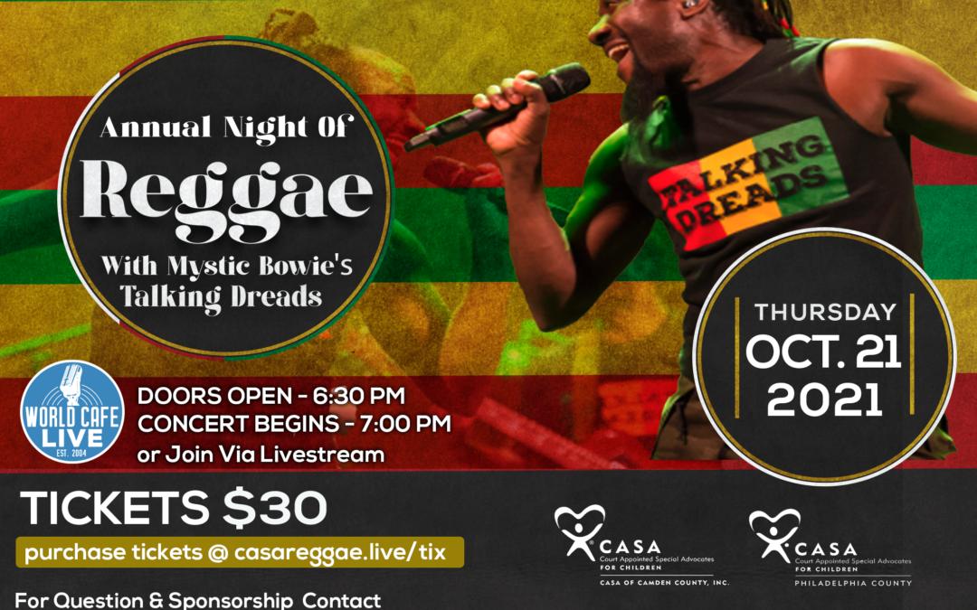 Night of Reggae ~ Benefiting CASA of Philadelphia and CASA of Camden Counties